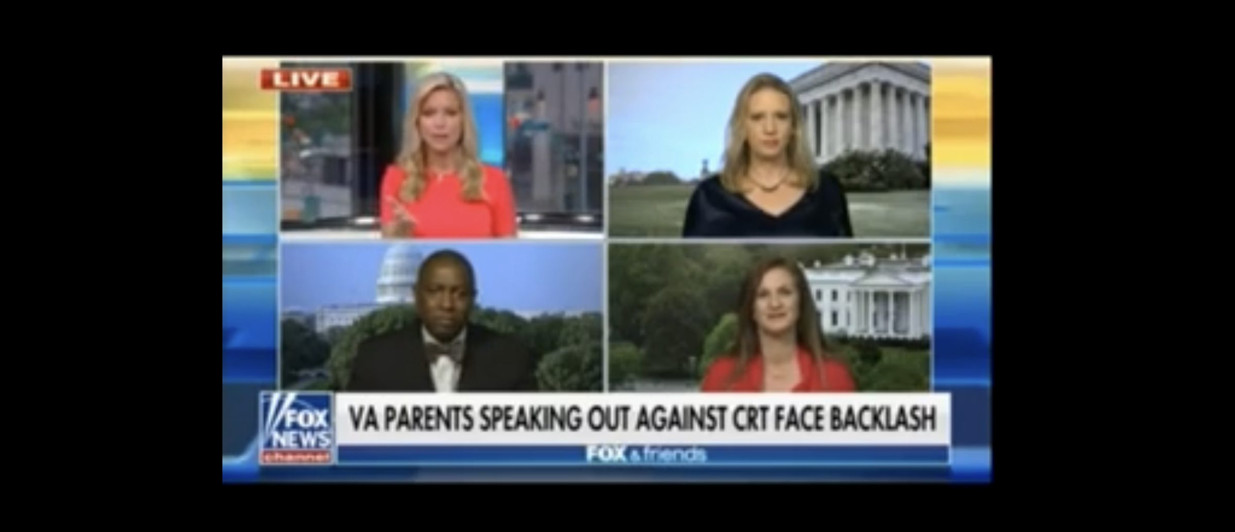 Fox & Friends interviewed Loudoun County parents about the backlash received for criticizing CRT in schools