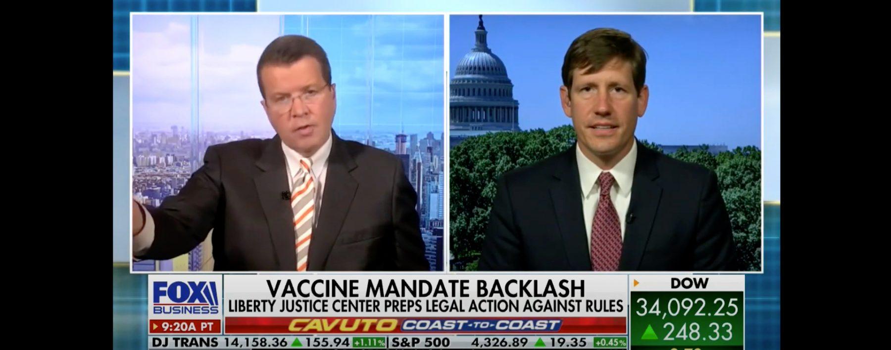 Fox Business Cavuto Illegal Federal Vaccine Mandate